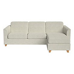 Debenhams - Brushed cotton 'Carnaby' right-hand facing chaise corner sofa bed
