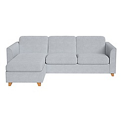Debenhams - Brushed cotton 'Carnaby' left-hand facing chaise corner sofa bed