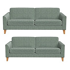 Debenhams - 4 seater and 3 seater chenille 'Carnaby' sofas