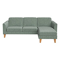Debenhams - Chenille 'Carnaby' right-hand facing chaise corner sofa