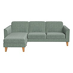 Debenhams - Chenille 'Carnaby' left-hand facing chaise corner sofa