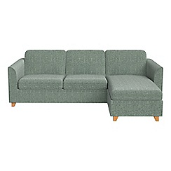 Debenhams - Chenille 'Carnaby' right-hand facing chaise corner sofa bed