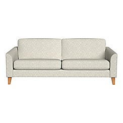 Debenhams - 4 seater textured weave 'Carnaby' sofa