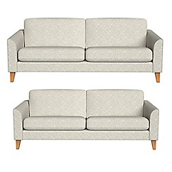 Debenhams - 4 seater and 3 seater textured weave 'Carnaby' sofas