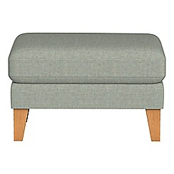 Debenhams - Textured fabric 'Carnaby' footstool