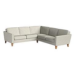 Debenhams - Textured weave 'Carnaby' corner sofa