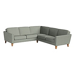 Debenhams - Textured fabric 'Carnaby' corner sofa