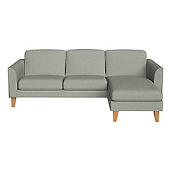 Debenhams - Textured fabric 'Carnaby' right-hand facing chaise corner sofa