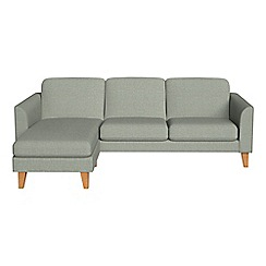 Debenhams - Textured fabric 'Carnaby' left-hand facing chaise corner sofa