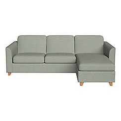 Debenhams - Textured fabric 'Carnaby' right-hand facing chaise corner sofa bed