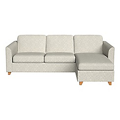 Debenhams - Textured weave 'Carnaby' right-hand facing chaise corner sofa bed