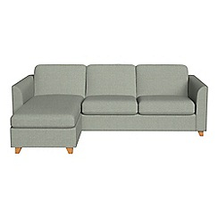 Debenhams - Textured fabric 'Carnaby' left-hand facing chaise corner sofa bed