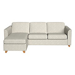 Debenhams - Textured weave 'Carnaby' left-hand facing chaise corner sofa bed