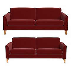 Debenhams - 4 seater and 3 seater velvet 'Carnaby' sofas