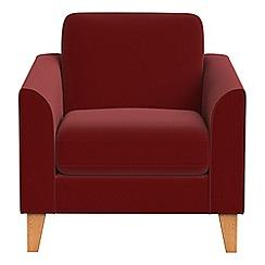 Debenhams - Velvet 'Carnaby' armchair