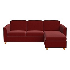 Debenhams - Velvet 'Carnaby' right-hand facing chaise corner sofa bed
