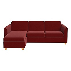 Debenhams - Velvet 'Carnaby' left-hand facing chaise corner sofa bed