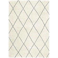 Debenhams - Cream 'Logan' rug