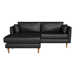 RJR.John Rocha - Luxury leather 'Ravello' left-hand facing chaise corner sofa