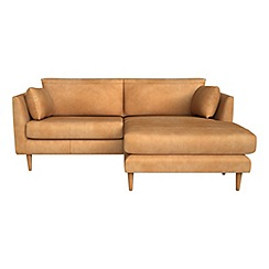 RJR.John Rocha - Natural grain leather 'Ravello' right-hand facing chaise corner sofa