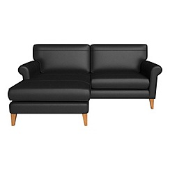 Debenhams - Luxury leather 'Arlo' left-hand facing chaise corner sofa