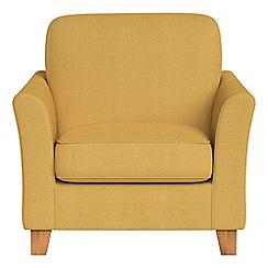 Debenhams - Tweedy weave 'Broadway' armchair