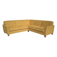 Debenhams - Large tweedy weave 'Broadway' corner sofa