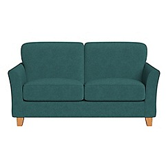 Debenhams - Small 2 seater velour 'Broadway' sofa