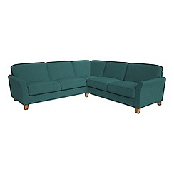 Debenhams - Large velour 'Broadway' corner sofa
