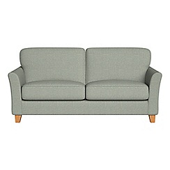 Debenhams - 3 seater textured weave 'Broadway' sofa