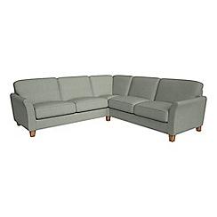Debenhams - Large textured weave 'Broadway' corner sofa
