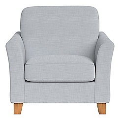 Debenhams - Brushed cotton 'Broadway' armchair