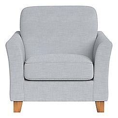 Debenhams - Brushed cotton 'Broadway' armchair