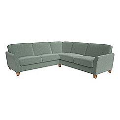 Debenhams - Large chenille 'Broadway' corner sofa