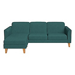 Debenhams - Velour 'Carnaby' left-hand facing chaise corner sofa