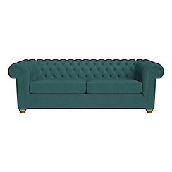 Debenhams - 4 seater velour 'Chesterfield' sofa