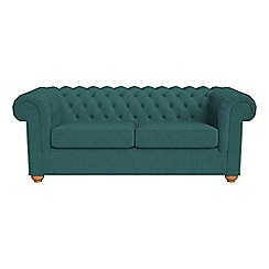 Debenhams - 3 seater velour 'Chesterfield' sofa