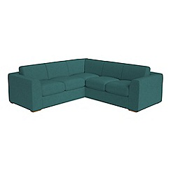 Debenhams - Medium velour 'Jackson' corner sofa