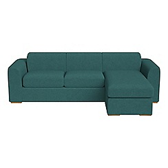 Debenhams - Velour 'Jackson' right-hand facing chaise corner sofa