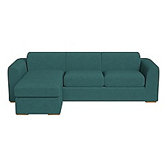Debenhams - Velour 'Jackson' left-hand facing chaise corner sofa