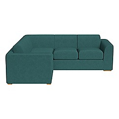 Debenhams - Medium velour 'Jackson' left-hand facing corner sofa end