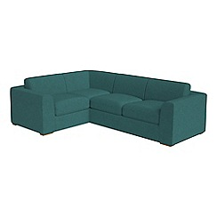 Debenhams - Large velour 'Jackson' left-hand facing corner sofa end