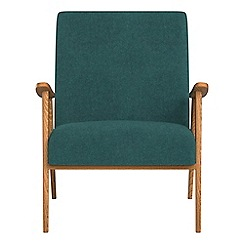 Debenhams - Velour 'Kempton' armchair