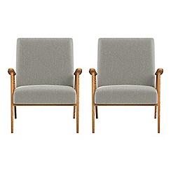 Debenhams - Set of 2 velour 'Kempton' armchairs