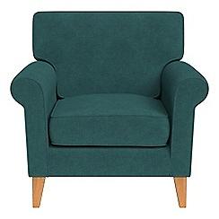 Debenhams - Velour 'Arlo' armchair