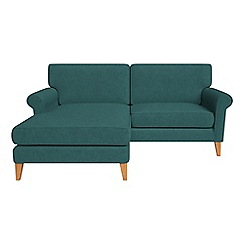 Debenhams - Velour 'Arlo' chaise corner sofa