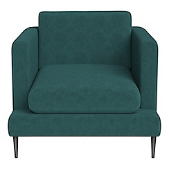 J by Jasper Conran - Velour 'Ellsworth' armchair