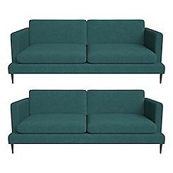 J by Jasper Conran - Set of two 3 seater velour 'Ellsworth' sofas