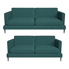 J by Jasper Conran - 3 seater and 2 seater velour 'Ellsworth' sofas