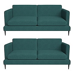J by Jasper Conran - Set of two 2 seater velour 'Ellsworth' sofas